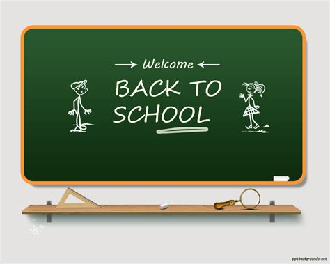 Free Back To School 2014 2015 Backgrounds For Powerpoint Education Ppt Templates Back To School Powerpoint Template