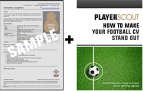 football cv templates free football cv template player scout