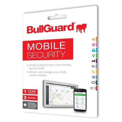 mobile security products bullguard mobile security 1 year 3 devices