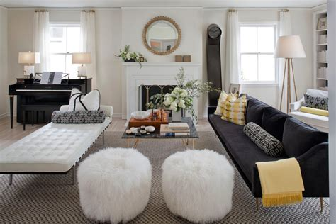 good  pouf ottoman  living room eclectic