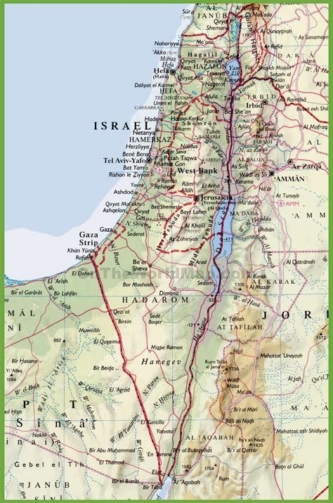 map of isreal detailed israel map
