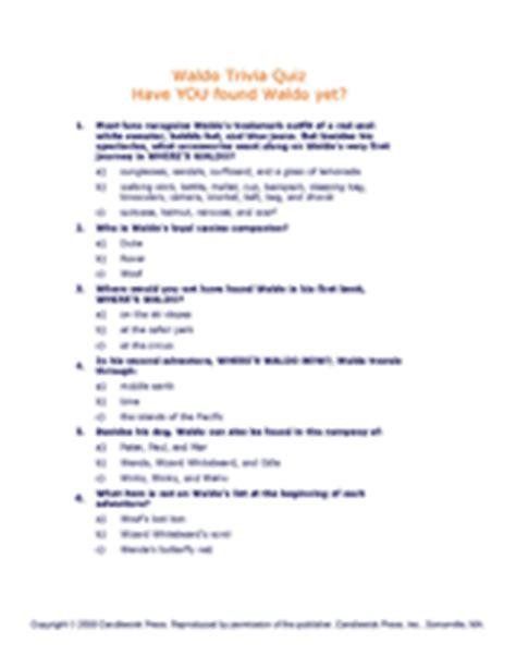 printable handwashing quiz where s waldo trivia quiz printable k 7th grade