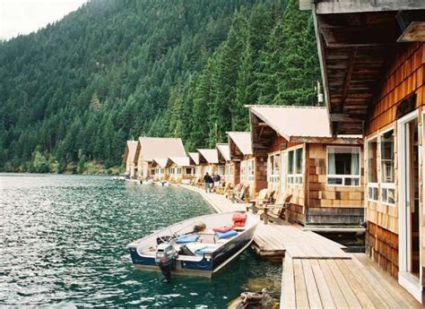 Diablo Lake Cabins by Floating Cabins At Ross Lake Resort In Cascades