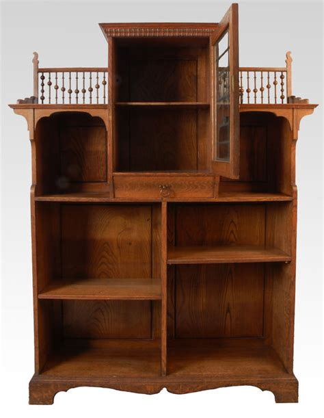arts and crafts oak open bookcase for sale antiques com