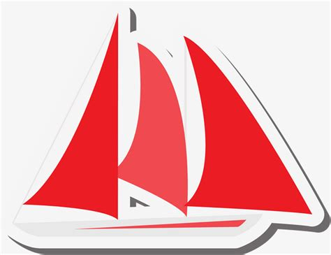 dessin bateau rouge bateau rouge simple rouge simple voilier image png pour le
