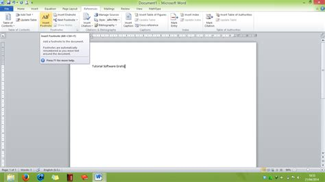 membuat catatan kaki di word 2007 cara membuat footnote catatan kaki di ms word tutorial