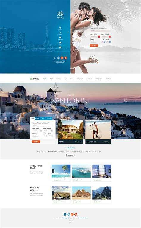 travel template psd travel agency multipurpose booking psd template by