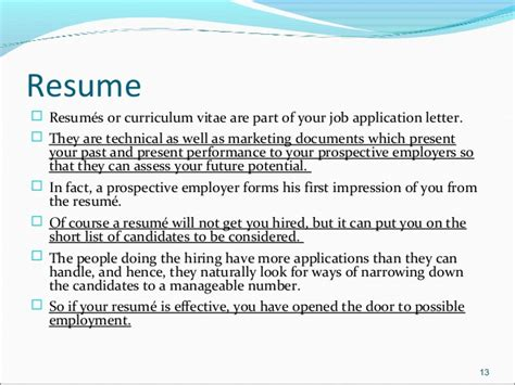 job application letters amp resume