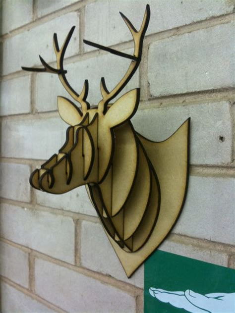 mdf acrylic cardboard deer head taxidermy
