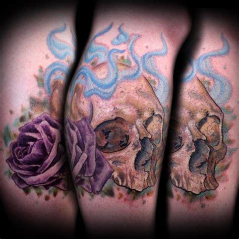 shiny tattoo shiny thigh 4 skull thigh on tattoochief