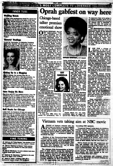 oprah winfrey articles the oprah winfrey show airs nationally in 1986 ny