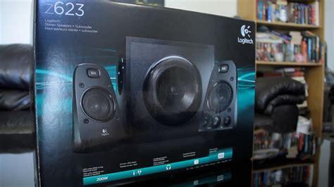 logitech thx certified  speaker system unboxing youtube