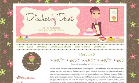 custom cute blog design