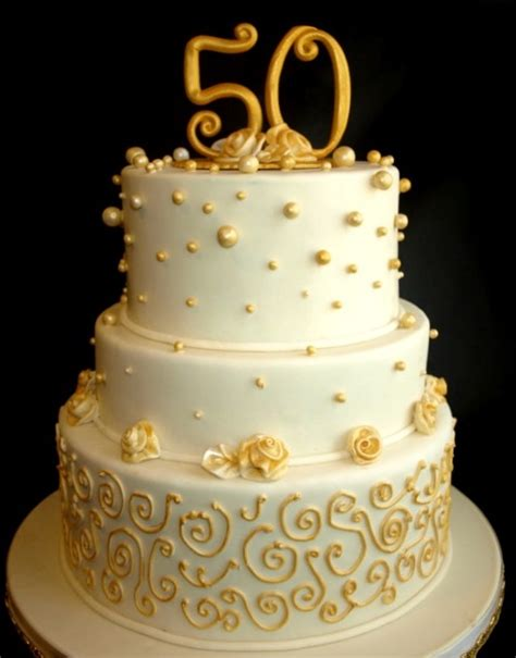 Wedding Anniversary Ideas Per Year by 9 Fondant Anniversary Cakes Photo 50th Wedding