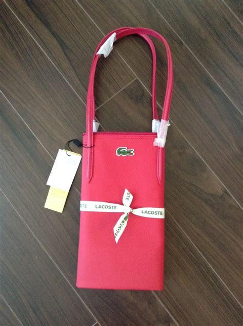 Lacoste Original 100 vendo bolsa lacoste original 100 color rosa nueva