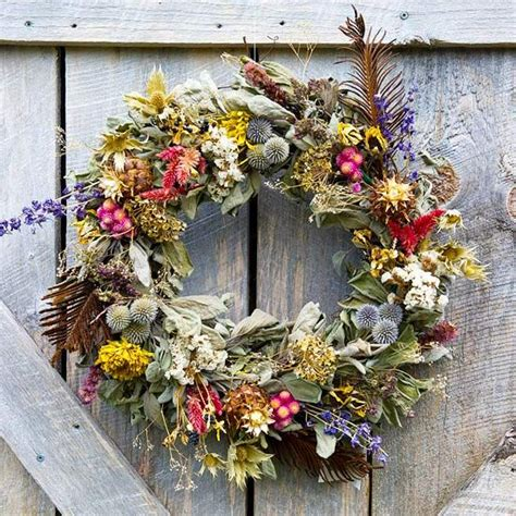 Dried Wreaths Front Door Floral Wreaths Dried Flowers And Wreaths On