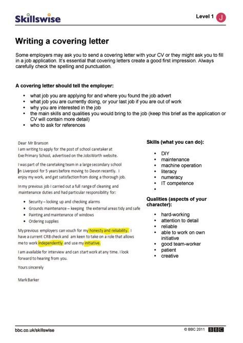 uk covering letter writing a covering letter