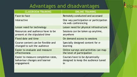online tutorial disadvantages training online vs offline