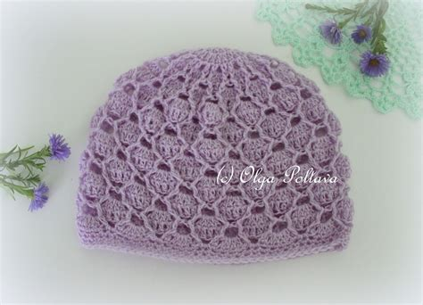pattern hat crochet lacy crochet