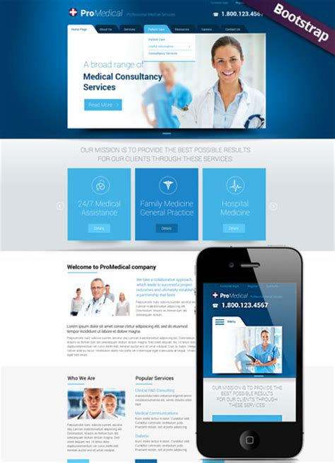 templates bootstrap free medical medical service bootstrap template id 300111755