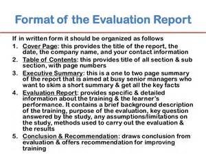 monitoring and evaluation report writing template evaluation
