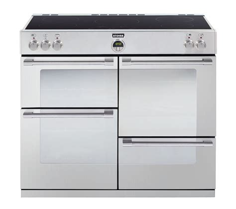 electric oven with induction hob buy stoves sterling 1000ei electric induction range cooker stainless steel free delivery