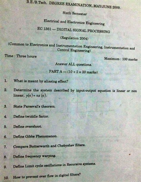 dsp integrated circuits question papers dsp integrated circuits question papers 28 images previous year annauniversity question