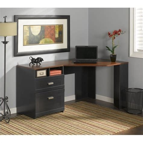 Bush Wheaton Corner Computer Desk Bush Wheaton Corner Computer Desk In Antique Black My72713a 03