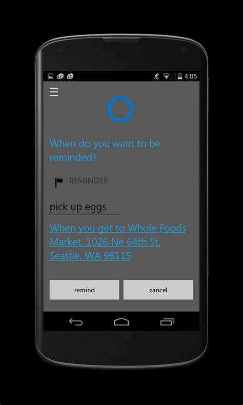 cortana app for android cortana for android screenshots