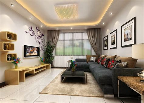 living room interior decoration wall 3d house