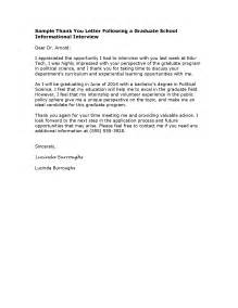 Business Letter Samples Job Acceptance Example Thanks For Grad Interview