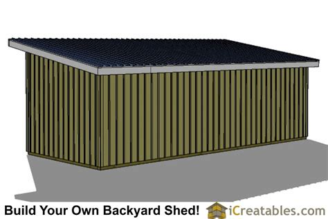 12x30 run in shed plans
