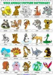 cool reading ls animals vocabulary esl worksheets learning ideas