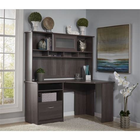 bush cabot corner desk cabot corner desk with hutch free shipping today