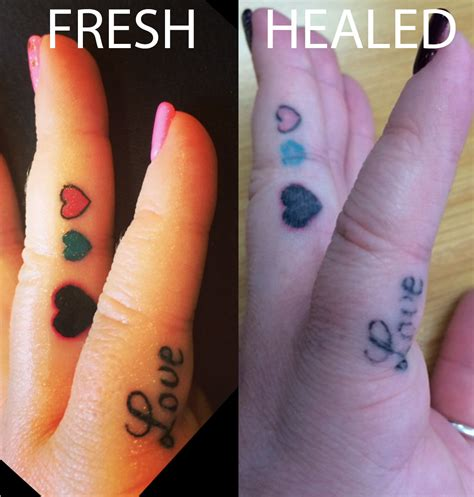 finger tattoo not healing tattoo in place of wedding band