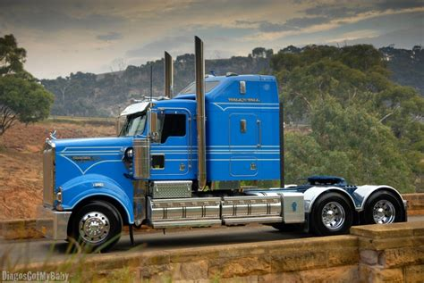 rodney guy kenworth  klos custom trucks pinterest