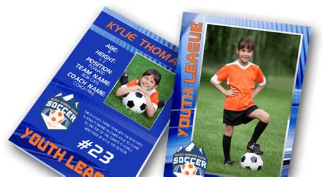 soccer trading card template print custom trading cards baseball cards sports cards