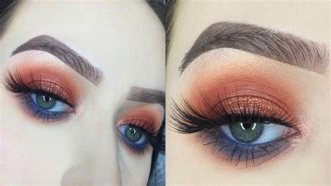 tutorial makeup natural peach kylie cosmetics royal peach palette makeup tutorial youtube