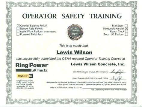 Scissor Lift Certification Card Template The Hakkinen Scissor Lift Certification Card Template