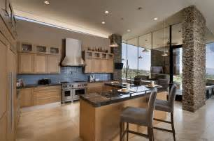 Modern House Kitchen Designs Modern Home With Mountain Views In Scottsdale Arizona