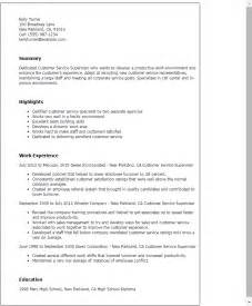 Cafeteria Supervisor Sle Resume by Professional Customer Service Supervisor Templates To Showcase Your Talent Myperfectresume