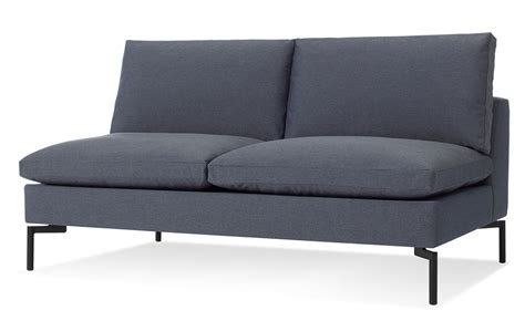 new settee new standard armless sofa hivemodern com