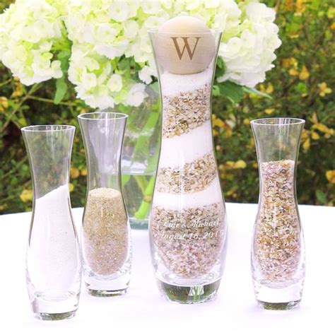 Sand Ceremony Photo Vase Unity Set by Rustic Unity Sand Ceremony 4 Vase Set
