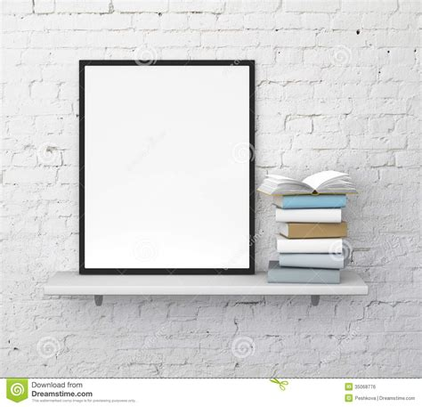 Stabilo 4 All Inner Box Black shelf with frame royalty free stock image image 35068776