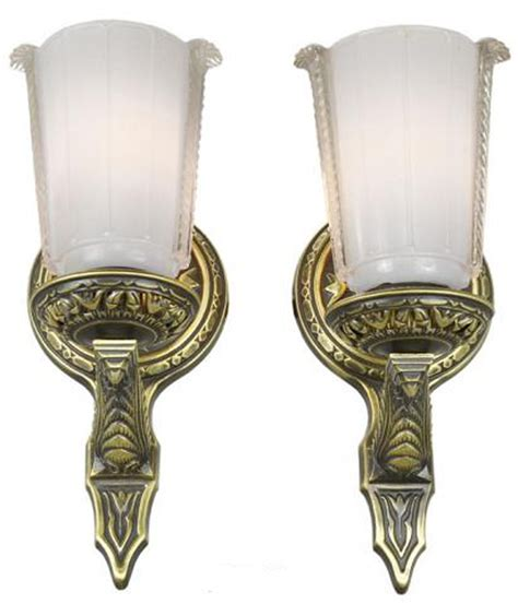 1920s Wall Sconces lovely pair of circa 1920 wall sconces modernism