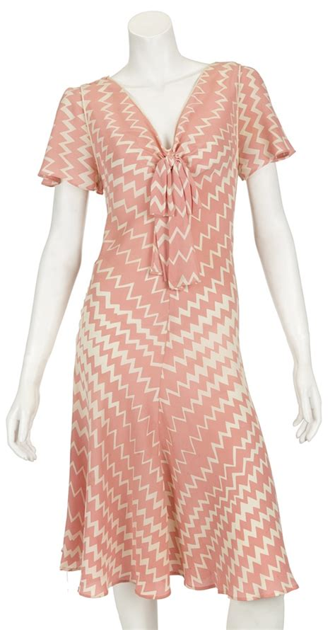 Dress Madona Stripe lot detail madonna quot evita quot production worn pink white zig zag striped dress from buenos