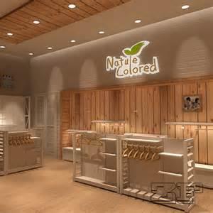 Wooden Interior Design wooden retail garment shop interior design for kid clothing display