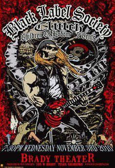 Blacklabel Rock Band Motorhead Glow In The Motorhead 005 M motorhead lars p krause 2014 concert poster and other
