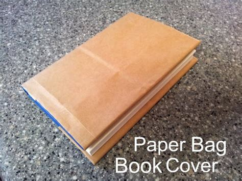 A Paper Book Cover - how to make a paper bag book cover