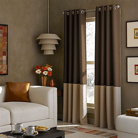 bed bath and beyond kendall buy kendall 120 inch grommet top window curtain panel in